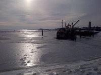 Der Hafen zu gefroren